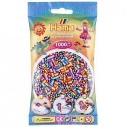 HAMA Sachet de 1000 Perles à repasser Midi 5 mm à rayures Mix