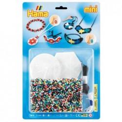 "HAMA Kit 4000 Perles à repasser Mini 2,5 mm ""bijou"" avec 2 Plaques + Ruban"