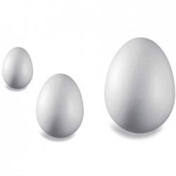 KNORR PRANDELL Lot de 5 Oeufs en polystyrène Hauteur: 80 mm, blanc