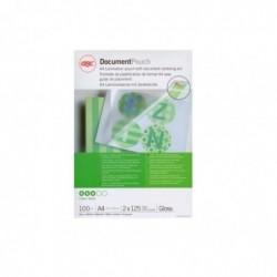 GBC Lot de 100 pochettes de plastification A4 brillant 2x175 microns