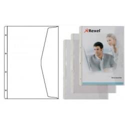 HETZEL Lot de 5 pochette transparente à rabat A4 PVC