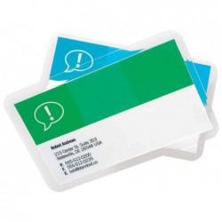 GBC Lot de 100 Pochettes de plastification format carte de crédit brillant 2x250 microns