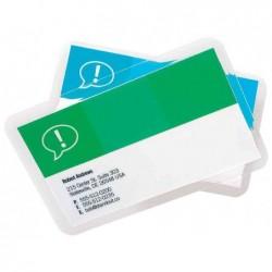 GBC Lot de 100 Pochettes de plastification 64 x 108 Bagage brillant 2x125 microns