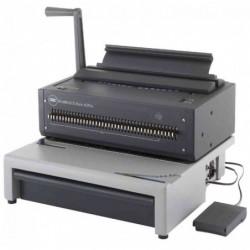 GBC Machine à relier à peignes métal WireBind E-Karo 40Pro A4 perfore jusqu'à 15 feuilles à la fois relie jusau'à 125 feuilles