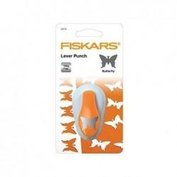 """FISKARS Perforatrice à levier M """"papillon"""", blanc /orange"""