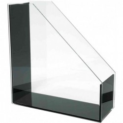 """WEDO porte-revues """"en acryliquee"""", A4, transparent/noir,"""