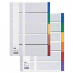 ELBA Intercalaire plastique 12/100eme 6 onglets colorés