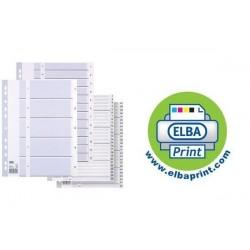 ELBA intercalaire numérique en plastique, format A4, blanc,