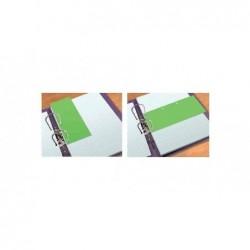 ELBA Pack 60 Interclaires Duo cartonné perfo 2 coté 240 x 105 mm Vert