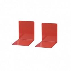 WEDO Lot de 2 Serre-livres Métal (L)140 x (P)140 x (H)120 mm Rouge