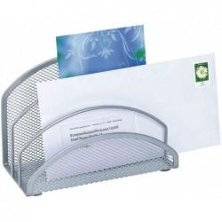 WEDO Trieur à courrier Office en fil métallique 3 compartiments Argent