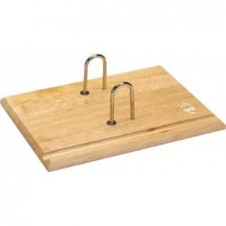 JPC Socle pour bloc éphéméride en bois arceaux métal