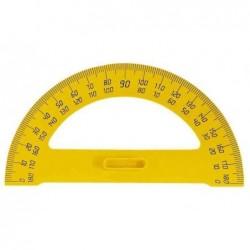 JPC Rapporteur plastique demi-cercle pour tableau 180° 35 cm Jaune
