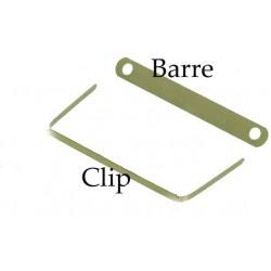 ELBA Clip archive laiton (impératif + barre de mantien Ref 100420792) pqt de 100
