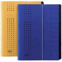 ELBA Chemise à élastique chic, A4 jaune, compartiments 1-12,