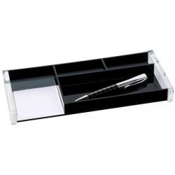 WEDO Plumier EXCLUSIV en Acrylique 5 compartiments Noir / Transparent