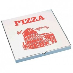 PAPSTAR pack de 100 cartons pour pizza, angulaire, 300 x 300 x 30mm