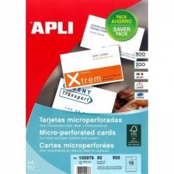 AGIPA Pochette de 500 cartes de visite micro perforées 200g 90 x 50,8 mm