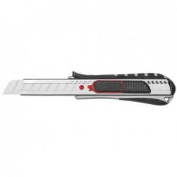 WEDO Cutter 2-en-1, lame: 18 mm, noir/rouge