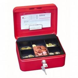 WEDO Coffret Caisse avec monnayeur 5 comp (L)200 x(P)160 x (H)90 mm Rouge