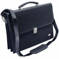 WEDO Serviette porte-documents Elegance simili cuir/nylon 4 Comp Noir