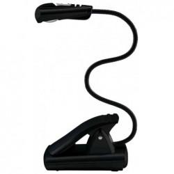 WEDO Lampe de lecture LED avec clip mobile Noir