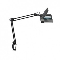 MAUL Luminaire loupe LED MAULvitrum sur pince Noir