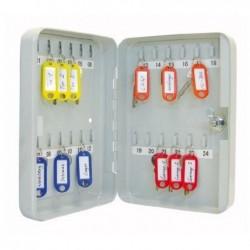 WEDO Armoire à clés Plate pour 24 clés Acier Gris