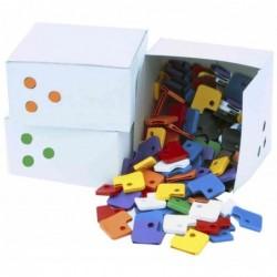 WEDO carton de 100 protections angulaires pour clés coloris assortis
