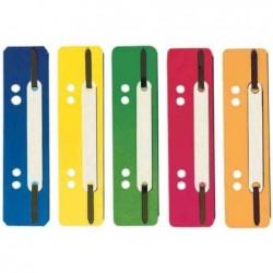 ELBA Paquet de 250 Attaches flexi lamelles en PP courtes 35 x 150 mm Assorties
