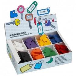 WEDO présentoir de 200 Protections angulaires pour clés Couleurs assorties