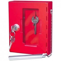 WEDO Boîte pour clé de secours Avec MArteau brise vitre 120x H150mm Rouge
