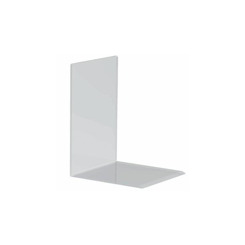 MAUL Lot de 2 Serre-livres en Acrylique 16 x 15 x 21 cm Transparent