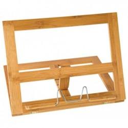 WEDO Porte-livre en bambou réglable 4 niveaux 34 x 4,7 x 26 cm