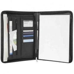 WEDO Porte document Conférencier Elegance A4 Similicuir Noir