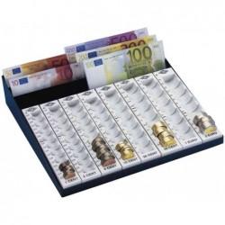WEDO Monnayeur avec compartiments billets (L)278 x (P)270 x (H)60 mm Gris Noir