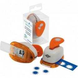 WEDO Perforateur motif feuille de trèfle 75x52x48 mm Gris/Orange