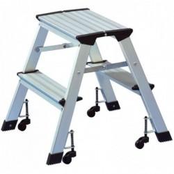 WEDO Escabeau aluminium capacité: 150 kg 2x 2 marches,