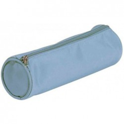 PAGNA Trousse nylon ronde tendance 70x220 mm Bleu clair