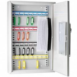 WEDO Armoire pour 32 clés avec serrure électrique et clé Gris