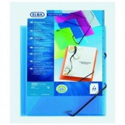 ELBA Chemise à élastiquesPolyvision avec pochette A4 Bleu