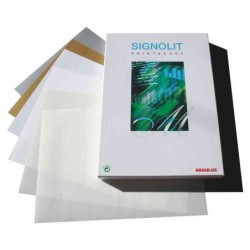 REGULUS film autoadhésif SIGNOLIT-C, format A4, blanc, mat, pqt 100