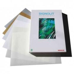 REGULUS film autoadhésif SIGNOLIT-C, format A4, argent, pqt 100