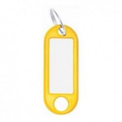 WEDO paquet de 10 porte-clés avec anneau, diamètre: 18 mm, jaune