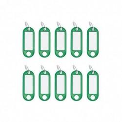 WEDO Lot de 10 Porte-clés avec anneau Diam 18 mm Vert