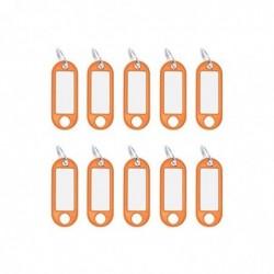 WEDO Paquet de 10 porte-clés avec anneau diam 18 mm Orange