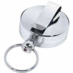WEDO Clip ceinture, avec fil retractable 60cm en métal chromé
