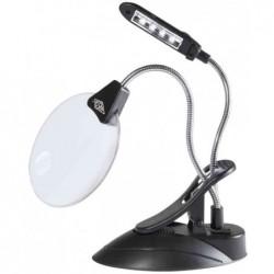 WEDO Loupe de table avec lampe à DEL, avec serre-joint, noir