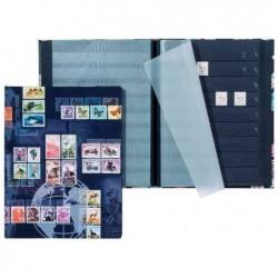 PAGNA Album pour timbres postaux, format A5 16 pages Noir