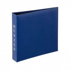 PAGNA Album pour pièces de monnaie 4 anneaux MUNZEN Bleu